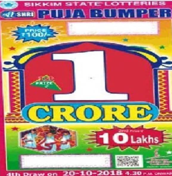 Shri Puja Bumper Lottery | Sikkim State Results